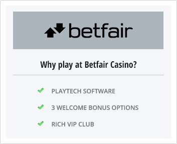 Advantages of Betfair Casino