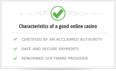 What are the main characteristics of a good online casino