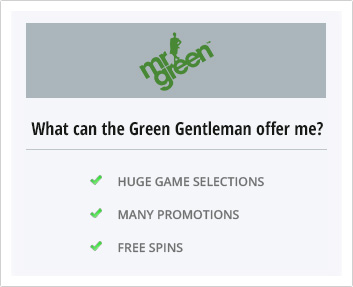 Mr Green Casino's offer