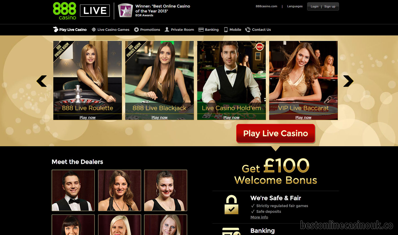 online casino live games best