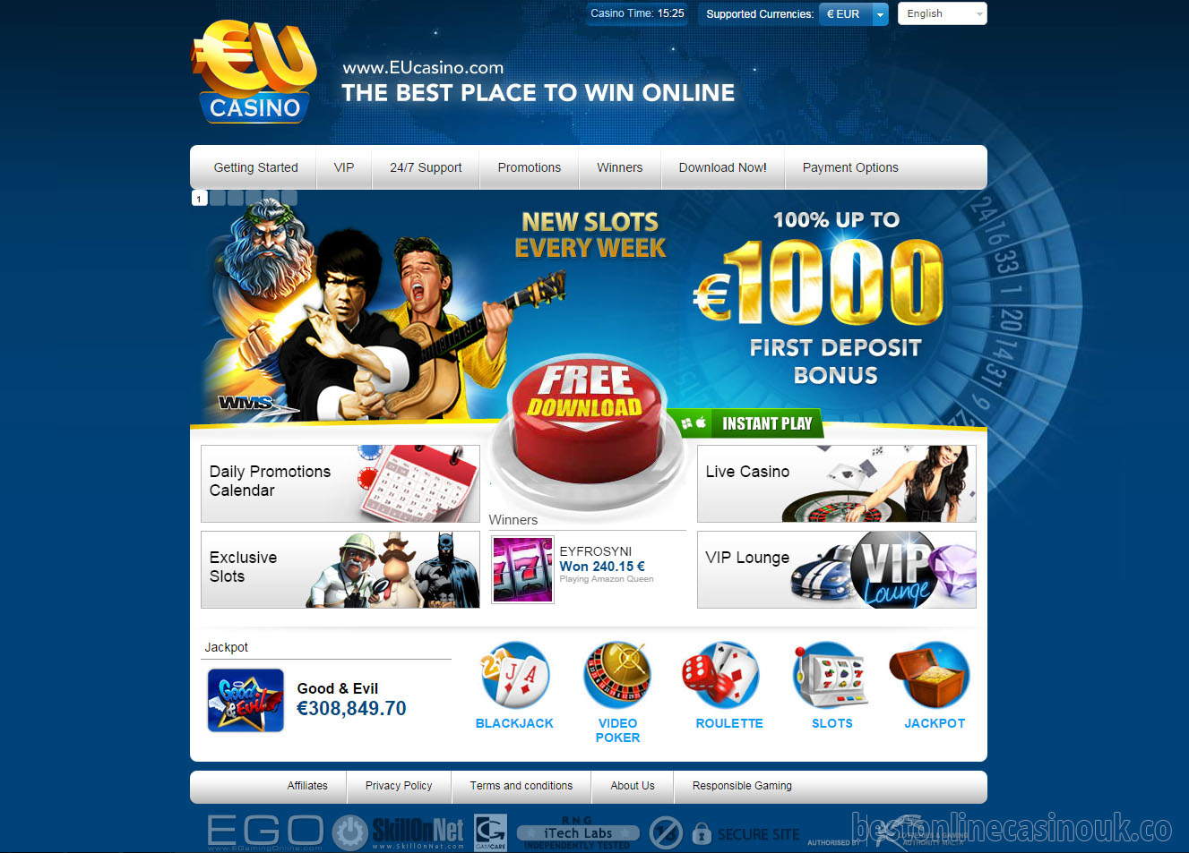 online casino eu gaming handy