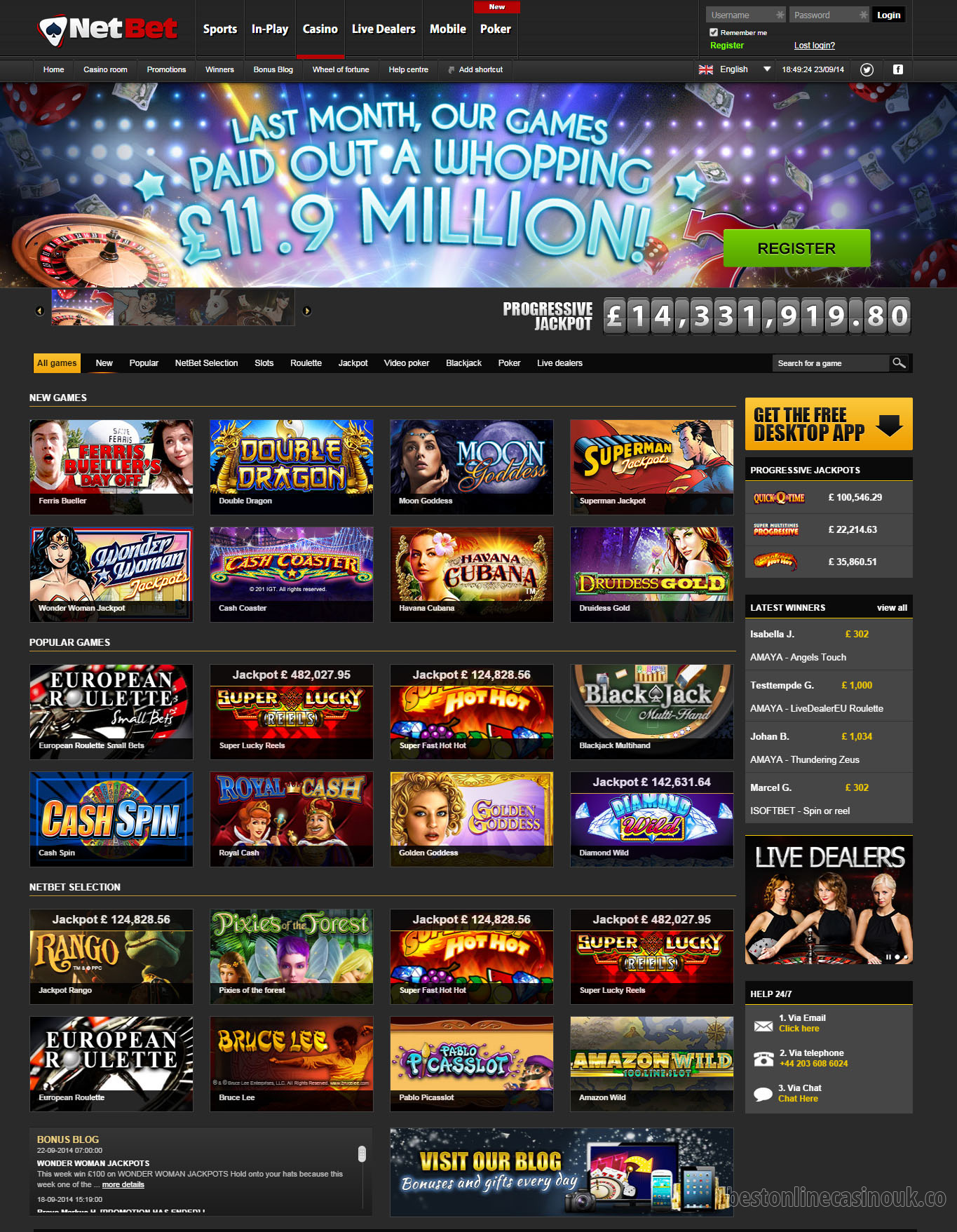 online casino website software