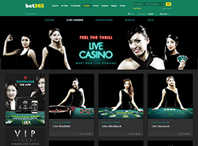 The live casino of Bet365