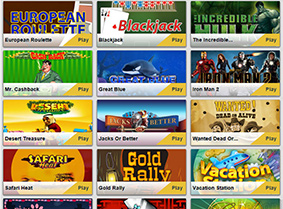 The games at Betfair Casino