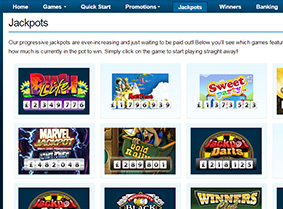 The rich selection of jackpots at William Hill