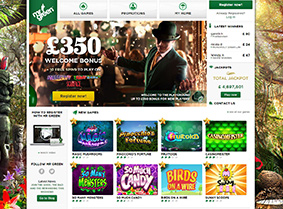 Mr Green Casino's main page